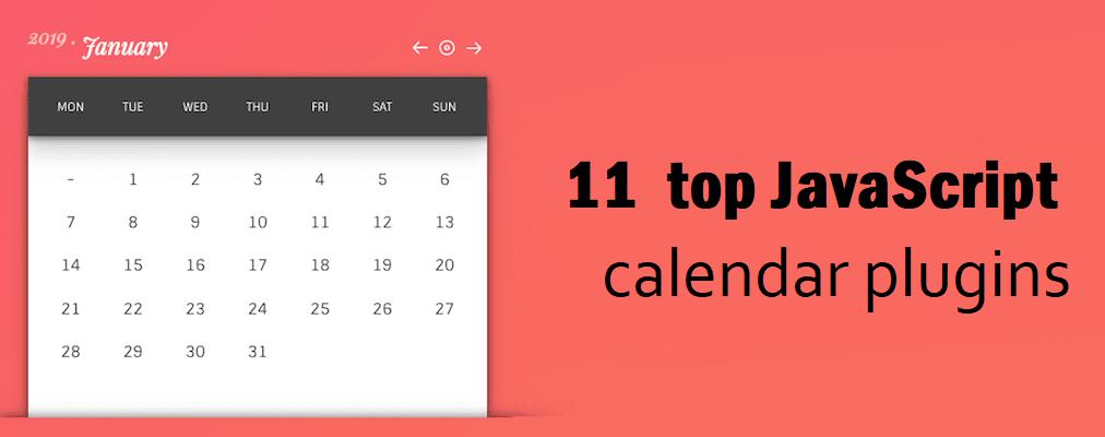 top JavaScript calendar plugins